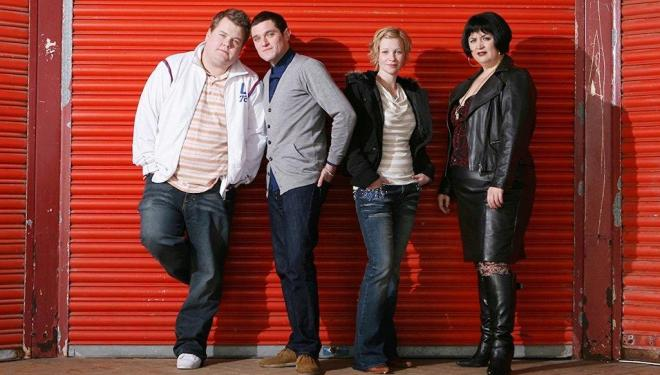 James Corden, Mathew Horne, Joanna Page, and Ruth Jones in Gavin & Stacey