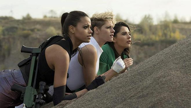 Kristen Stewart, Naomi Scott and Ella Balinska in Charlie's Angels