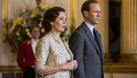 Olivia Colman and Tobias Menzies in The Crown season 3, Netflix