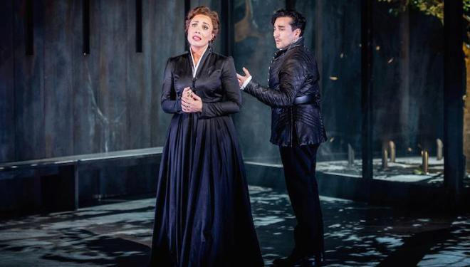 Marina Costa-Jackson as Elisabeth and Leonardo Capalbo in the title role of Don Carlo at Grange Park Opera. Photo: Robert Workman