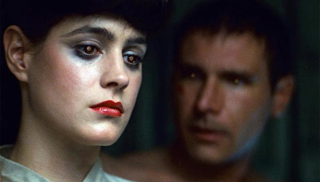 Sean Young and Harrison Ford in Blade Runner