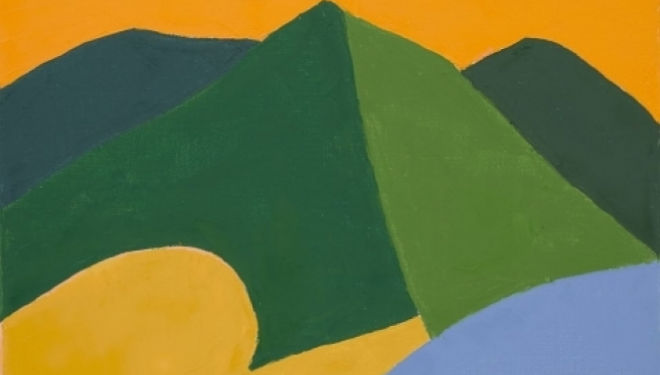 Etel Adnan, courtesy of White Cube
