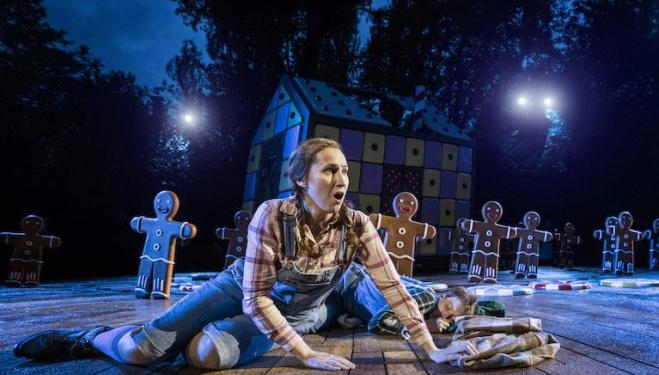 Elizabeth Karani as Gretel in Hansel and Gretel at Regent's Park Open Air Theatre. Photo: Johan Persson