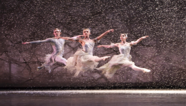 BRB The Nutcracker, Anniek Soobroy & Marion Rainer as Snowflakes, Steven Monteith as The Wind, photo Bill Cooper