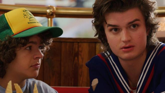 Gaten Matarazzo and Joe Keery in Stranger Things 3, Netflix