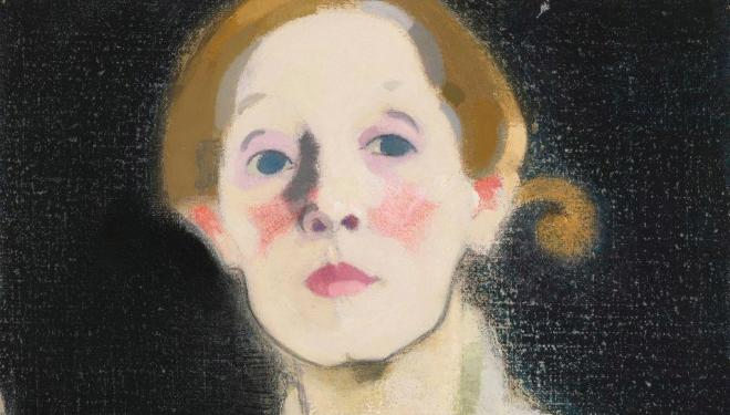 Helene Schjerfbeck, Self-portrait, Black Background, 1915. Herman and Elisabeth Hallonblad Collection. Finnish National Gallery / Ateneum Art Museum; photo: Yehia Eweis