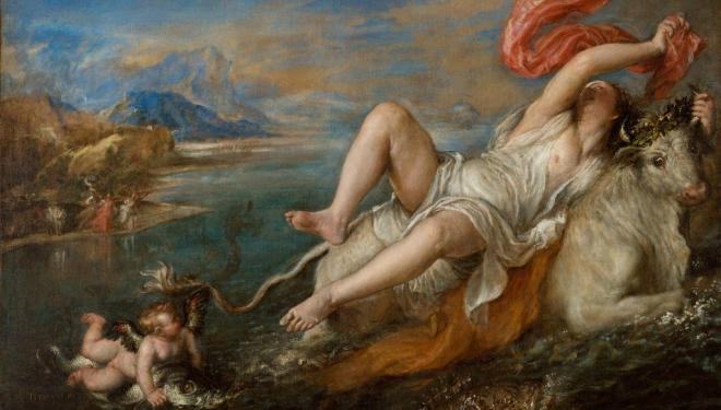 (Detail) Titian, Rape of Europa, 1562. © Isabella Stewart Gardner Museum, Boston.