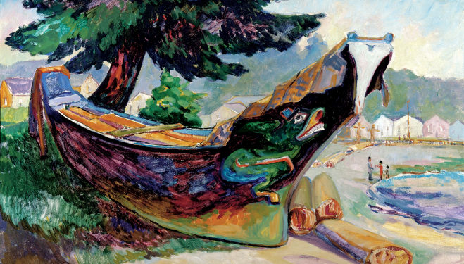 Emily Carr, 'Indian War Canoe (Alert Bay)', courtesy of Dulwich Picture Gallery