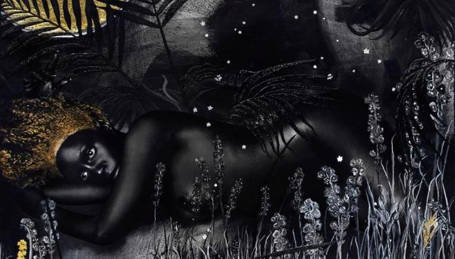 Lina Iris Viktor, II. For Some are born to Endless Night. Dark Matter., 2015-9. Courtesy of the artist and Mariane Ibrahim Gallery