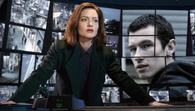 Holliday Grainger and Callum Turner in The Capture, BBC One