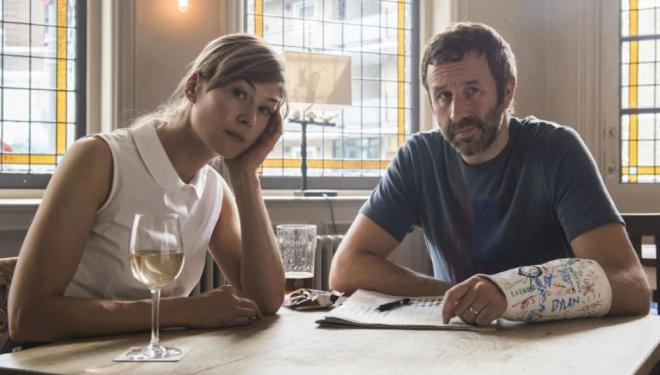 Rosamund Pike and Chris O'Dowd in State of the Union, BBC Two