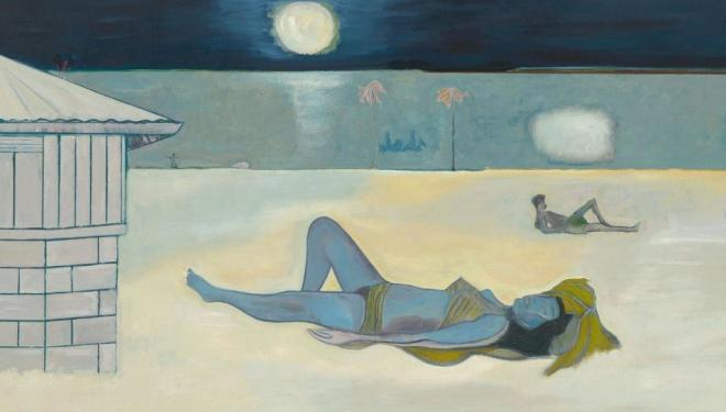 Peter Doig. Night Bathers, 2019. © Peter Doig. All Rights Reserved, DACS 2019. Courtesy Michael Werner Gallery, New York and London.