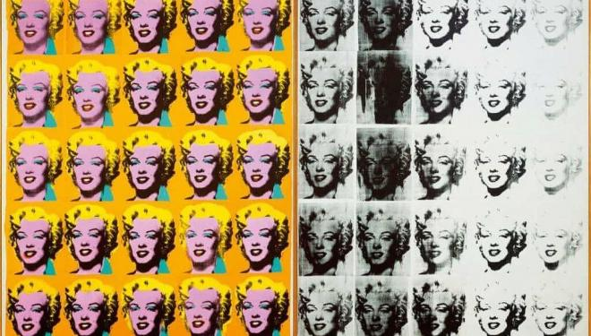 Andy Warhol's Marilyn Diptych, 1962. Photograph: Andy Warhol Foundation for the Visual Arts/Artists Rights Society/DACS