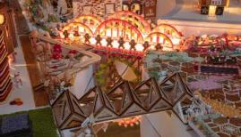 Gingerbread City brings urban architecture to life through a delicious medium. Photo: Luke Hayes