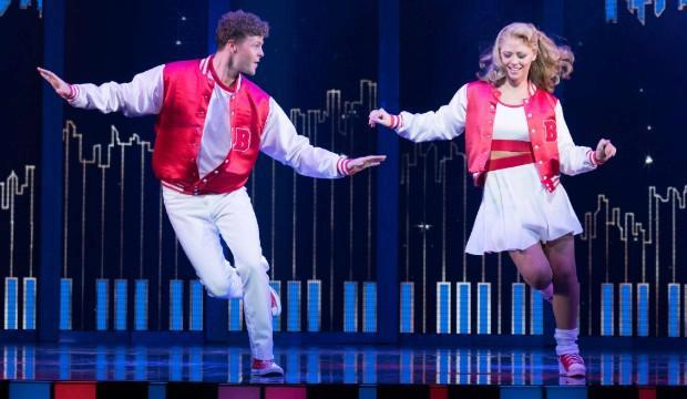 Jay McGuiness as Josh Baskin & Kimberley Walsh as Susan Lawrence in Big The Musical. Photo by Alastair Muir.