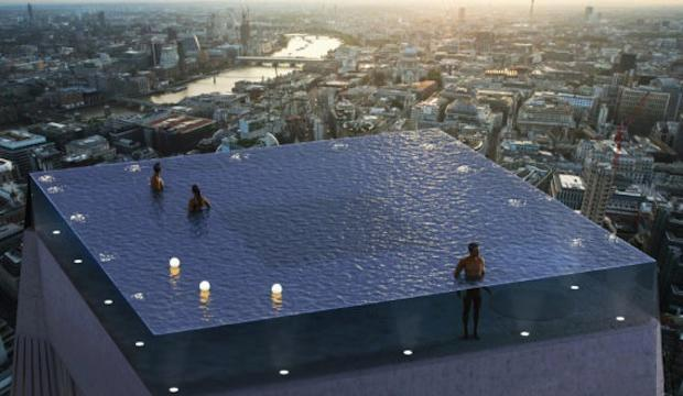Infinity London: sky high pool, the City