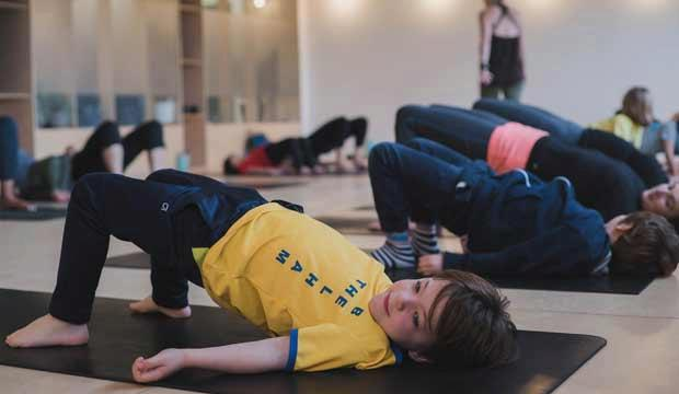 Yoga for kids at Peckham Levels' LevelSix space. Photo: Zen Armstrong
