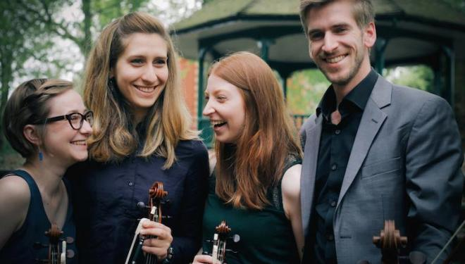 The Consone Quartet perform at the Royal Over-Seas League