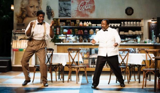 Hammed Animashaun and Lucian Msamati in Master Harold...and the boys. Photo by Helen Murray