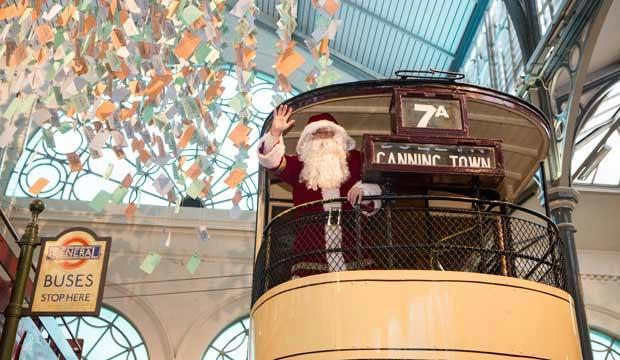 Visiting Father Christmas is always magical when you're a kid - especially when there's a bus. Photo: London Transport Museum