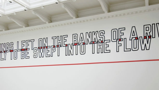 Lawrence Weiner, courtesy of South London Gallery