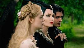 Elle Fanning, Angelina Jolie and Sam Riley in Maleficent: Mistress of Evil
