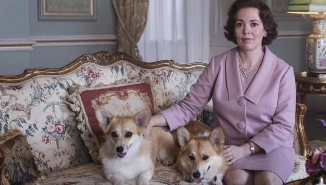 Olivia Colman and friends in The Crown season 3, Netflix