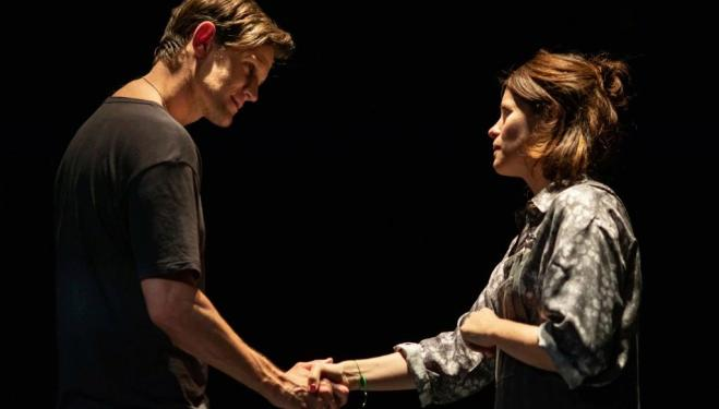 Matt Smith and Claire Foy in Lungs. Photo Helen Maybanks