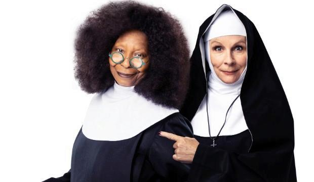 Whoopi Goldberg 'Deloris Van Cartier' and Jennifer Saunders 'Mother Superior'. Photo Matthew Murphy and Oliver Rosser