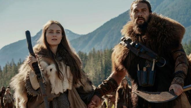 Hera Hilmar and Jason Mamoa in See, AppleTV+