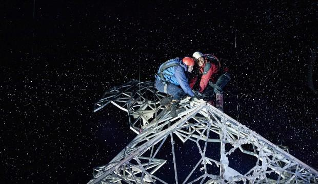 Angus Yellowlees (Simon) and Josh Williams (Joe) in Touching The Void. Photo by Michael Wharley