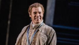 Benjamin Hulett, cheerful tenor, at the Royal Opera House. Photo: Tristram Kenton