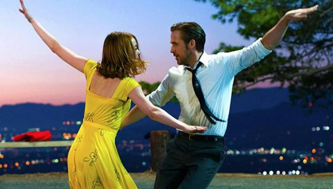 Emma Stone and Ryan Gosling in La La Land, Netflix