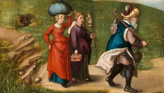 Albrecht Dürer, Lot and His Daughters. National Gallery of Art, Washington, Samuel H. Kress Collection, 1952.2.16.b Image courtesy of the Board of Trustees, National Gallery of Art, Washington, DC.
