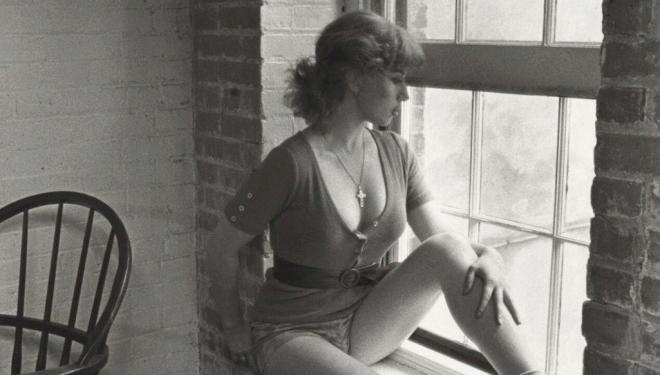 Untitled Film Still #15 by Cindy Sherman, 1978. Both courtesy of the artist and Metro Pictures, New York