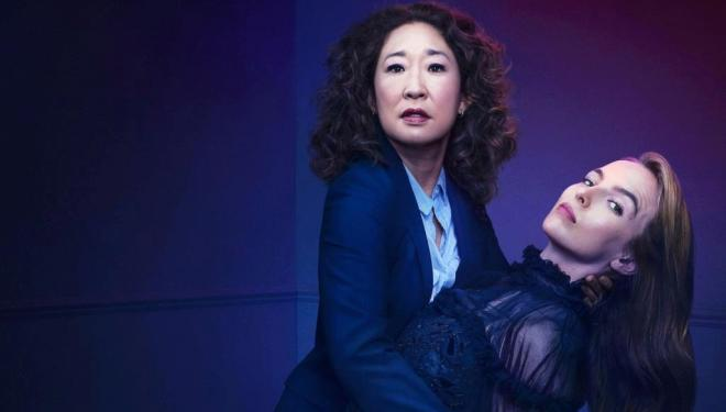 Sandra Oh and Jodie Comer in Killing Eve, BBC