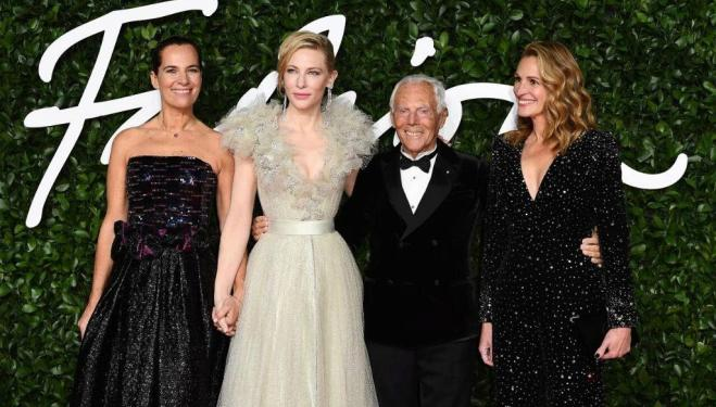 Fashion Awards red carpet arrivals: Roberta Armani, Cate Blanchett, Georgio Armani and Julia Roberts