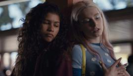 Zendaya and Hunter Schafer in Euphoria, Sky Atlantic