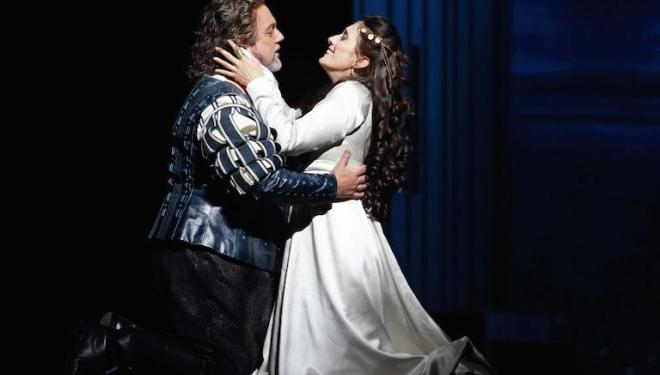 Gregory Kunde in the title role and Ermonela Jaho as Desdemona in Otello. Photo: Catherine Ashmore