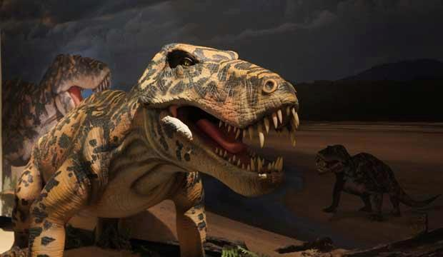 Animatronic Permian reptiles at the Horniman. Photo: Gondwana Studios