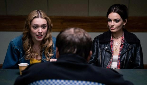 Aimee Lou Wood and Emma Mackey in Sex Education season 2, Netflix