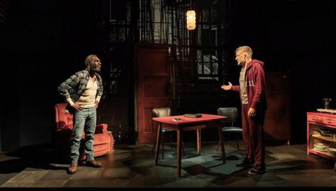 Gary Beadle and Jasper Britton in Sunset Limited. Photo by Marc Brenner