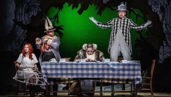 Alice is plunged into a madcap world in Gerald Barry's opera. Photo: Clive Barda