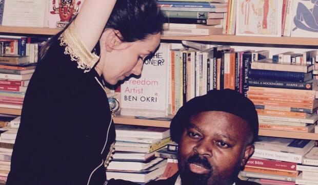 Ben Okri and Charlotte Jarvis at The Coronet Theatre