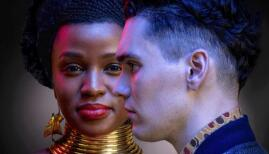 Masali Baduza and Jack Rowan in Noughts and Crosses, BBC One