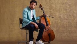Sheku Kanneh-Mason performs at Milton Court on 25 March 2021. Photo: Jake Turney