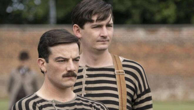 Kevin Guthrie and James Harkness in The English Game, Netflix