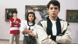 Matthew Broderick, Mia Sara, and Alan Ruck in Ferris Bueller's Day Off, Netflix