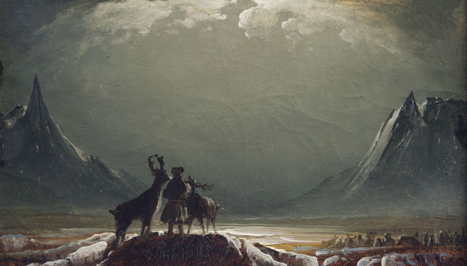 'Landscape from Finnmark with Sámi and Reindeer' by Peder Balke,1850, Northern Norway Art Museum, Tromsø, courtesy of National Gallery London