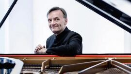 Concert pianist Stephen Hough performs from his London home on 10 May. Photo: Sim Canetty-Clarke